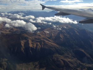 My view of the mountains around Cusco before landing